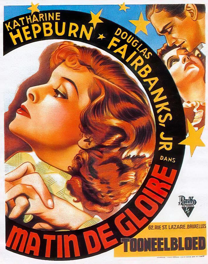 morning Glory, With Katharine Hepburn And Douglas Fairbanks, Jr., 1933. Mixed Media