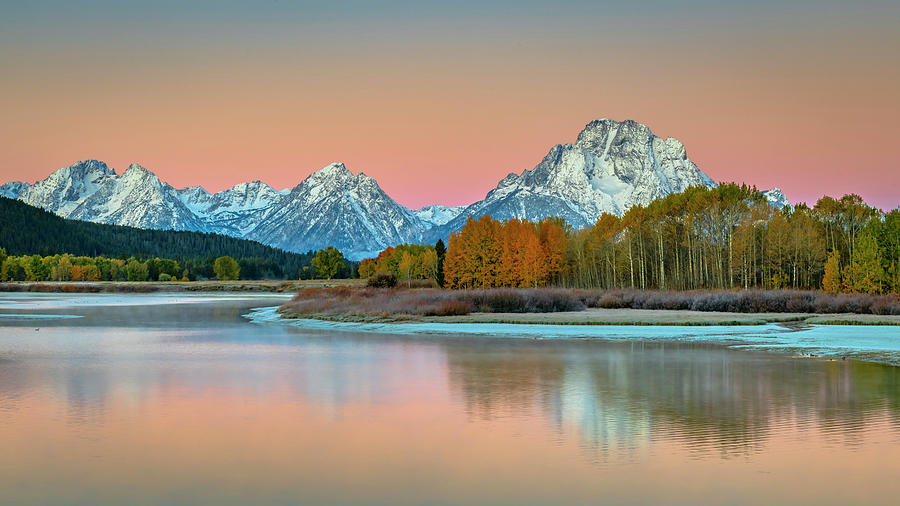 Landscape Photograph - Morning Glow Grand Teton NP by Russell Cody