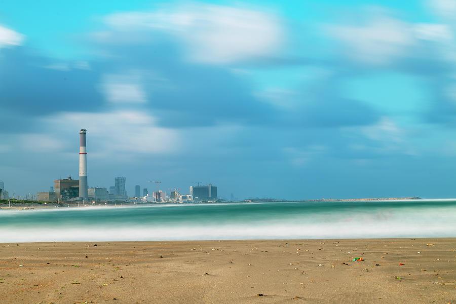 Morning Light In Tel Aviv Beach Photograph