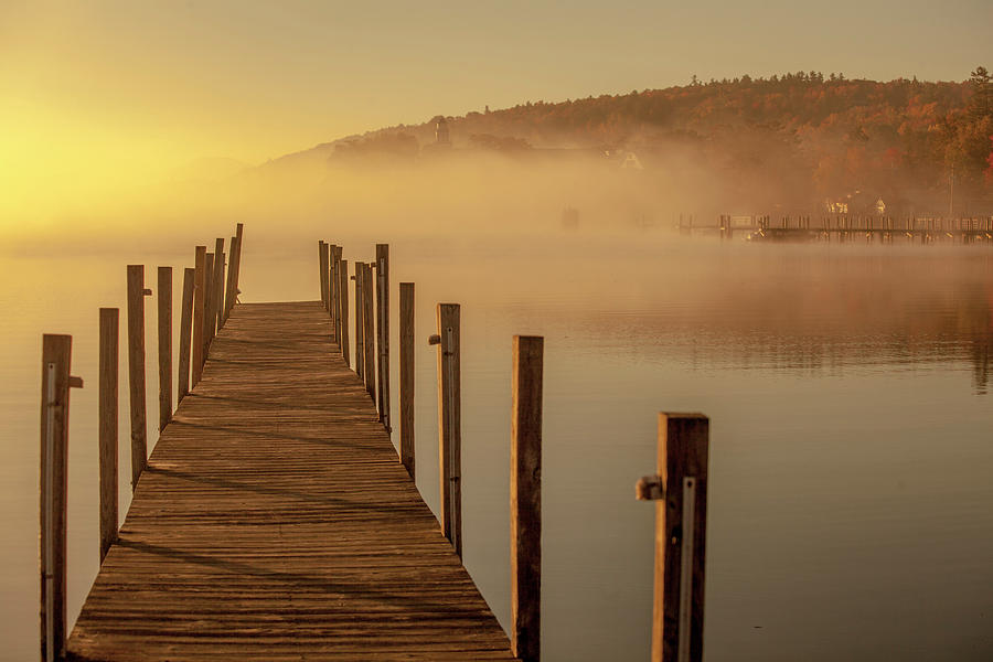 Morning On The Lake Dockside Photograph by Trevor Slauenwhite