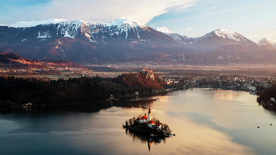 Morning over Lake Bled from Mala Osojnica by Ian Middleton
