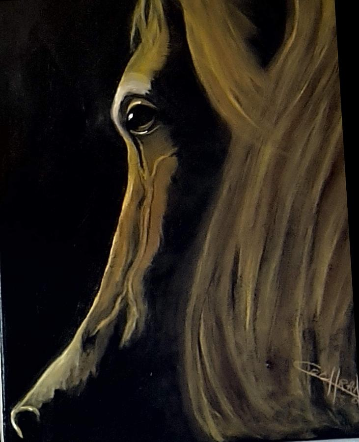 Horse Painting - Morning Sun by Diana Cochran