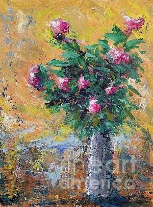 Flowers Painting - Morning Sun by Mark Macko