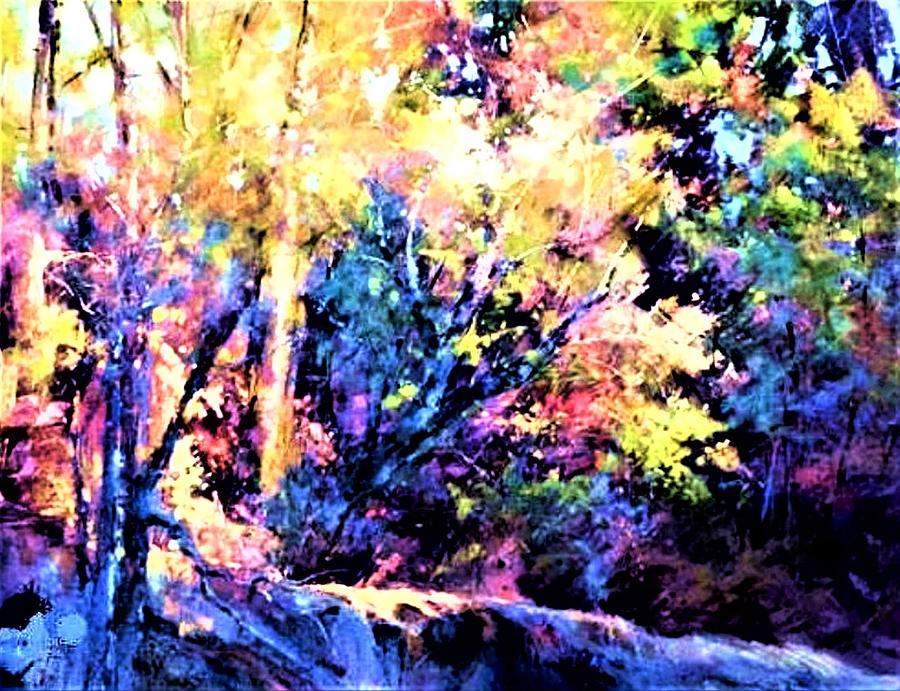 Morning Trees Painting by Joseph Barani