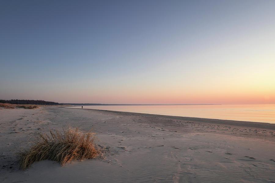 Morning Walk Along The Beach Photograph