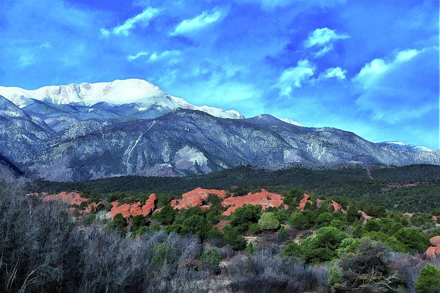 Colorado Digital Art - Morning_Peak_.20210325 by Joseph Liberti