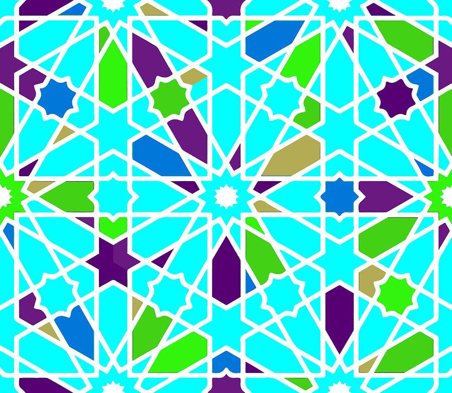 Moroccan Islamic Style Geometric Tile 5 Digital Art