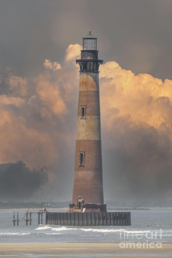 Morris Island Lighthouse - Charleston South Carolina - Folly Beach Photograph