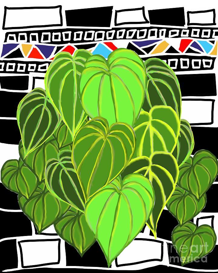 Leaves Digital Art - Mosaic IV by Nancy Worrell