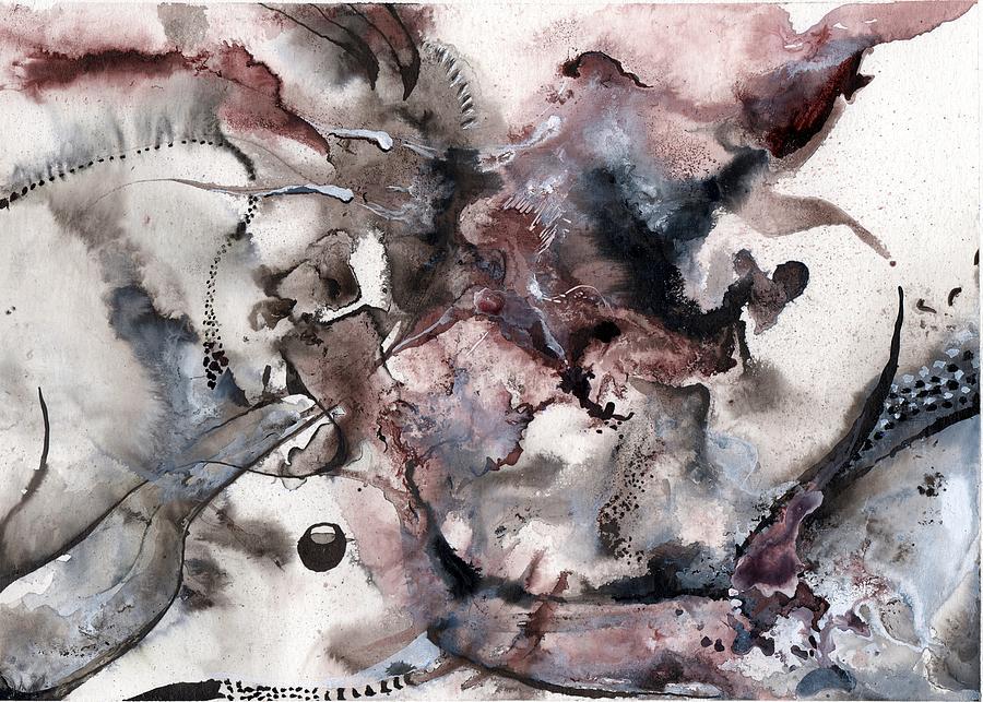 Inks Painting - Mosakambe Kutengo by Wolfgang Schweizer