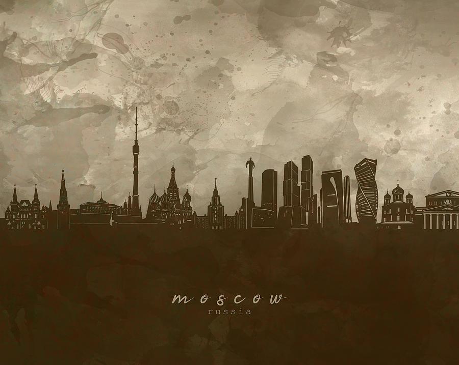 Moscow Skyline Panorama 4 Digital Art