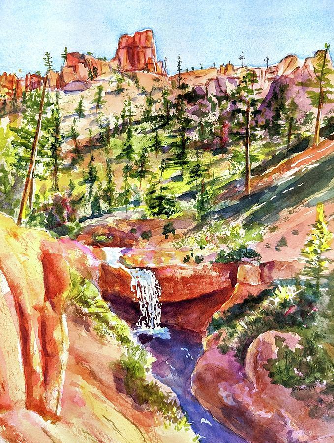 Mossy Cave Trail Bryce Canyon Utah by Carlin Blahnik CarlinArtWatercolor