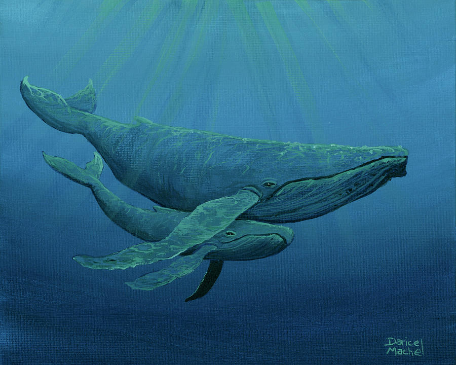 Mother and Baby Humpback by Darice Machel McGuire
