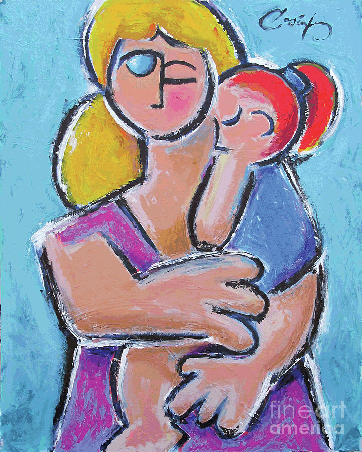 Motherhood Painting - Mother And Child by Benjamin Casiano