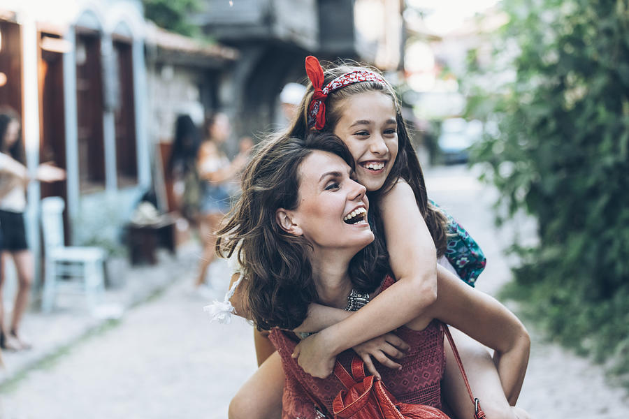 Mother and daugther having fun outdoors Photograph by Vladimir Vladimirov