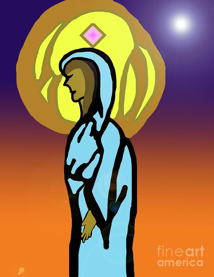 Mother Mary Digital Art