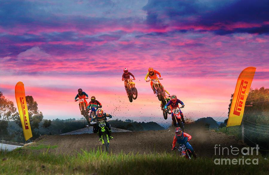 Motocross Photograph - Motocross Is Not For Sissies Vi by Al Bourassa