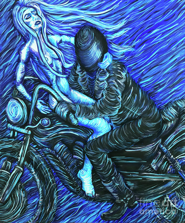 Motorcycle Nightmare by Amy E Fraser