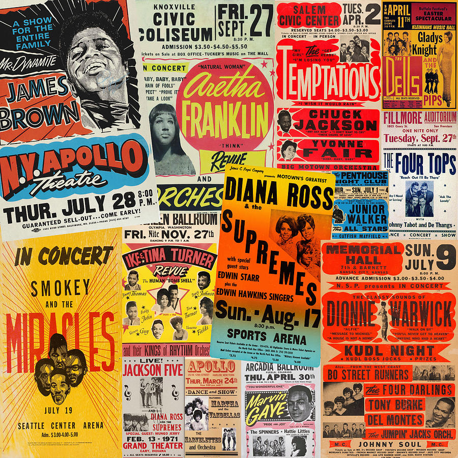 Motown Concert Posters by Andrew Fare