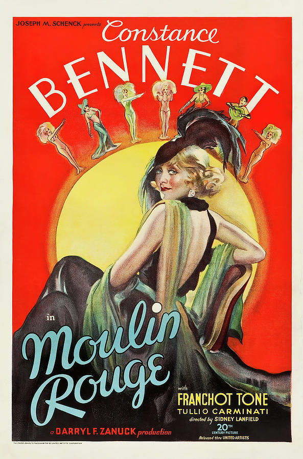 moulin Rouge, With Constance Bennett, 1934 Mixed Media