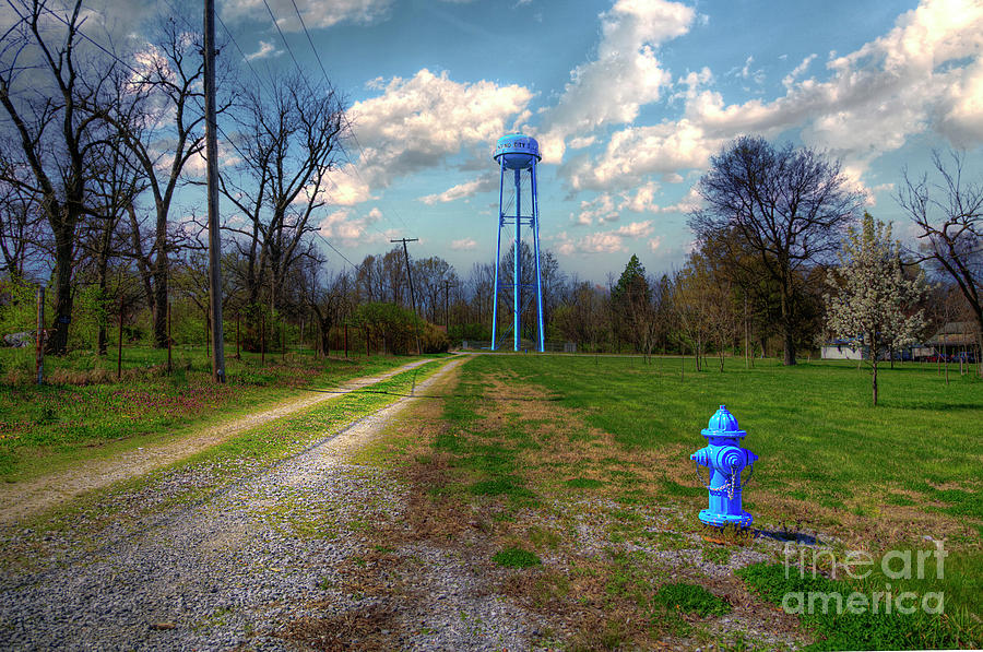 Hdr Photograph - Mounds City Water Tower by Larry Braun