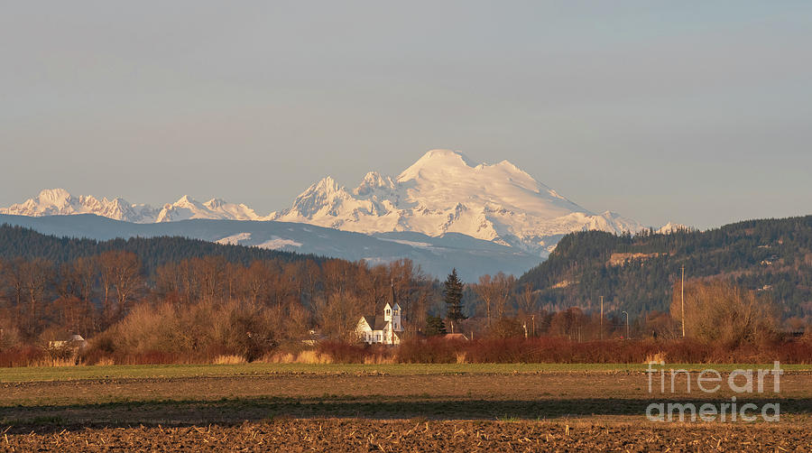 Mount Baker Over The Skagit Valley Photograph