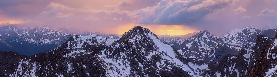 Mount Bierstadt Sunset Photograph