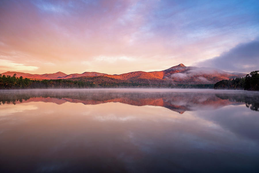 Mount Chocorua Autumn Mist by Jeff Sinon