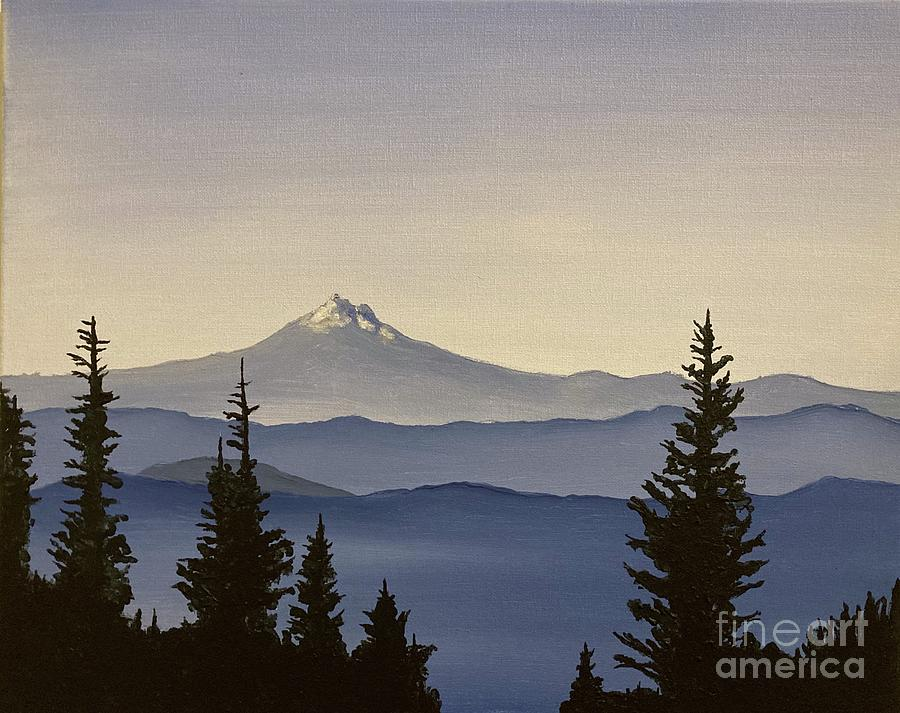 Mountain Painting - Mount Jefferson from Timberline by Barbara Von Pagel