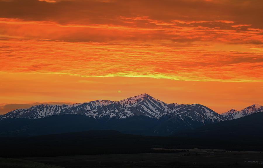 Mount Massive Sunset Photograph