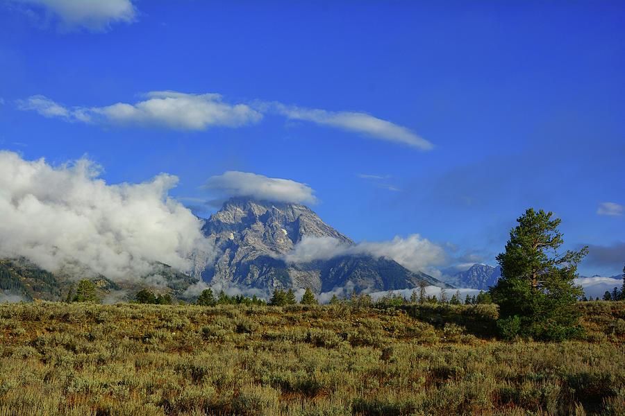 Mount Moran and Clouds by Raymond Salani III
