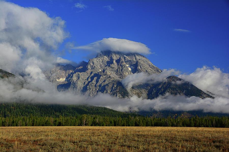Mount Moran and Storm Clouds by Raymond Salani III
