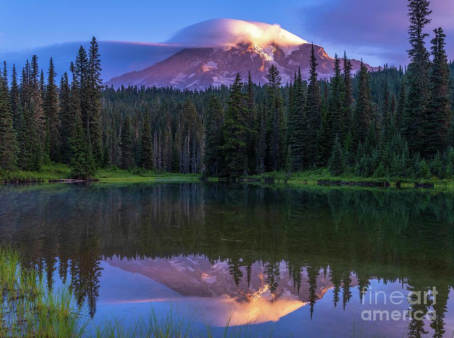 Mount Rainier Lenticular Reflection Photograph