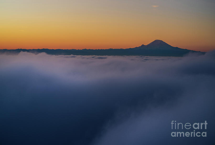 Mount Rainier Morning Meditation by Mike Reid