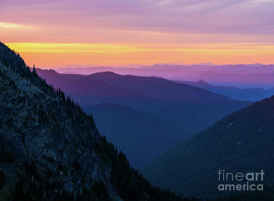 Mount Rainier National Park Dusk Layers Photograph