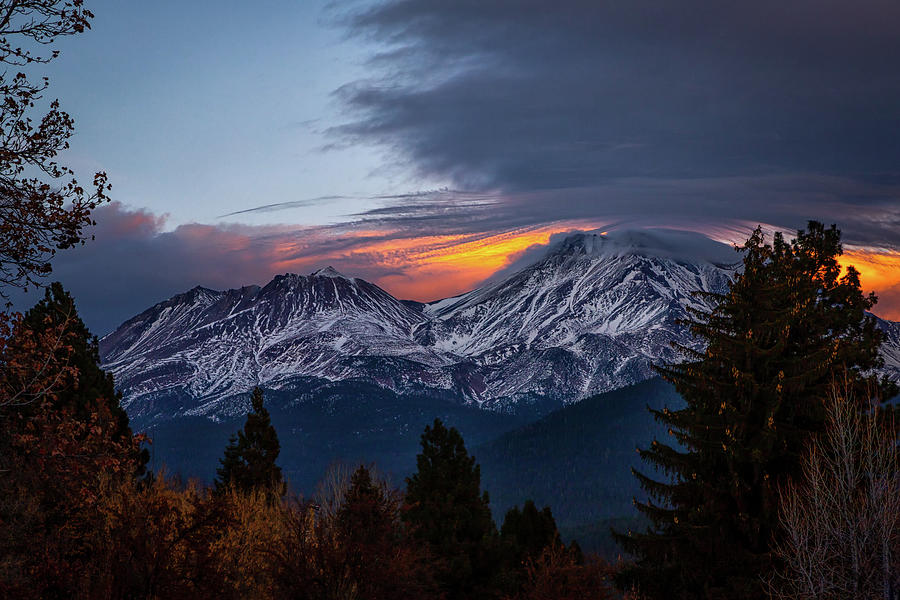 Mount Shasta The Last Light Photograph