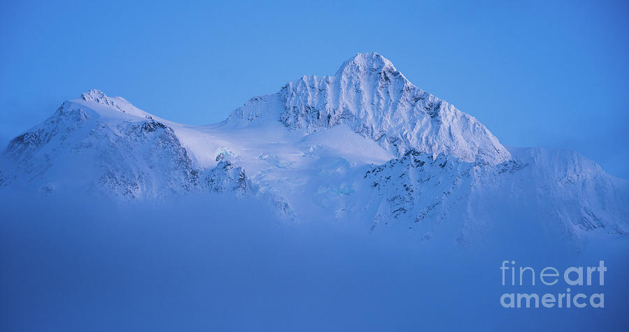 Mount Shuksan In The Clouds Photograph