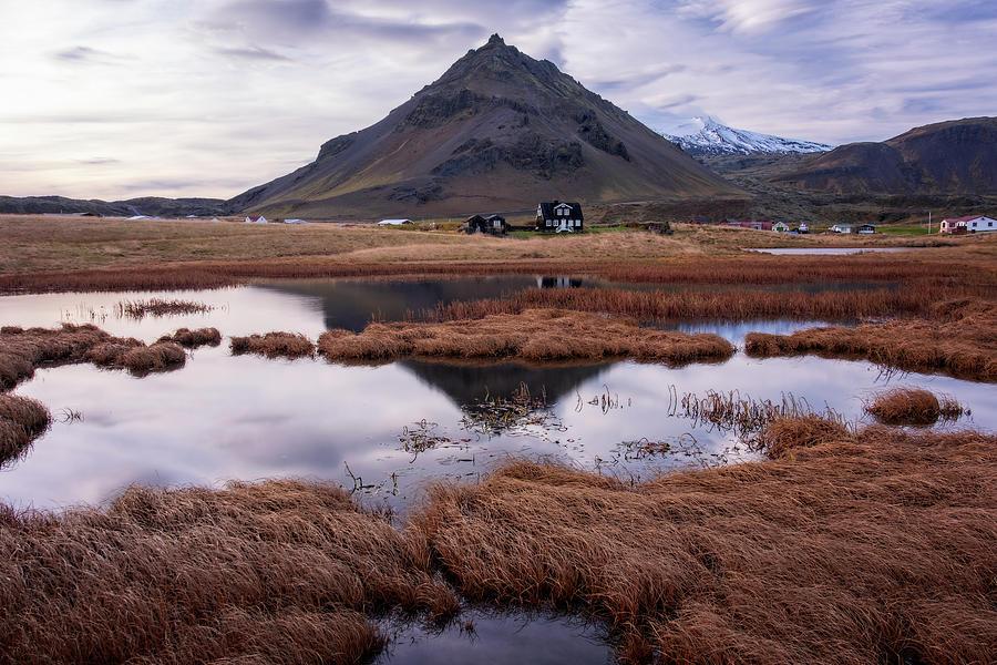 Mount Stapafell Arnarstapi by Catherine Reading