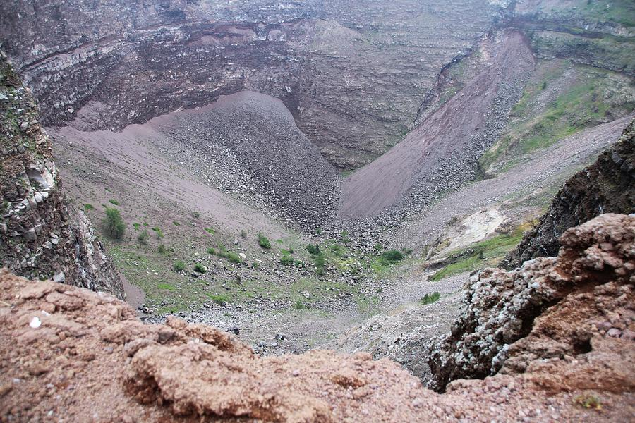 Mount Vesuvius Crater At Top Photograph