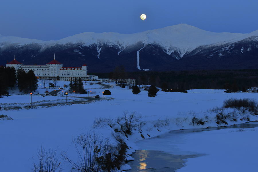 Mount Washington Bretton Woods Winter Moon Photograph