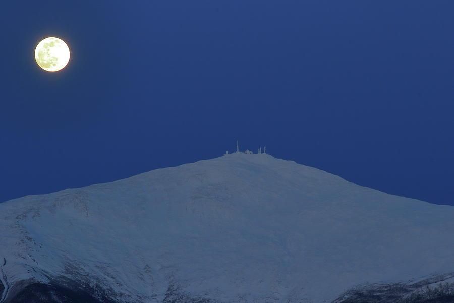 Mount Washington Summit Moon Photograph
