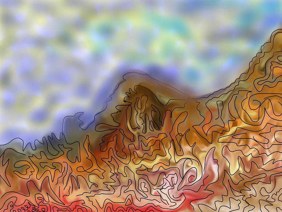 Mountain Abstracted Digital Art