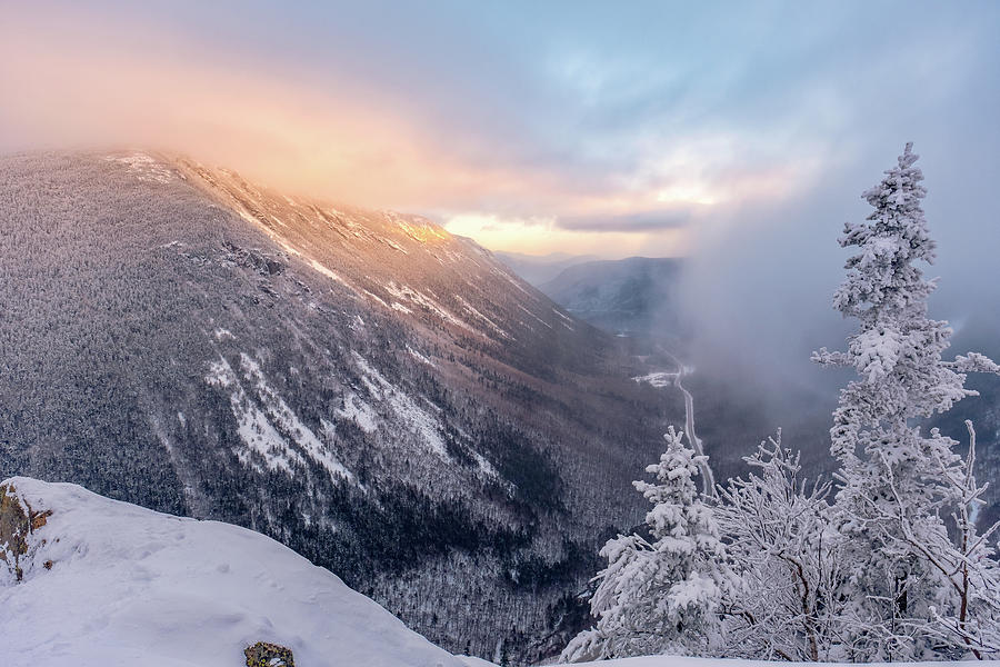 Mountain Glow, Crawford Notch. by Jeff Sinon