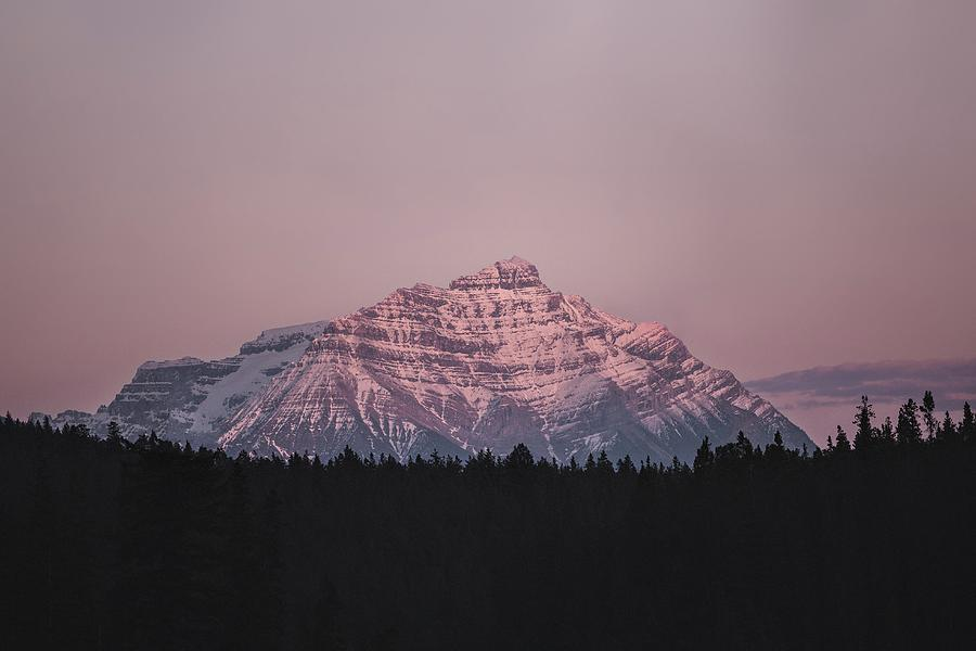 Mountain In Jasper - Snow Covered Mountain During Daytime - Jasper, Ab, Canada Photograph