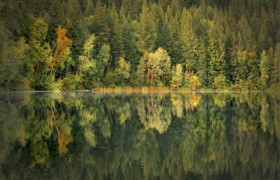 Mountain Lake In Fall Photograph