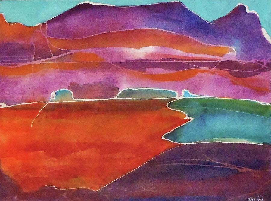 Mountain Painting - Mountain Lake by Julia Walsh
