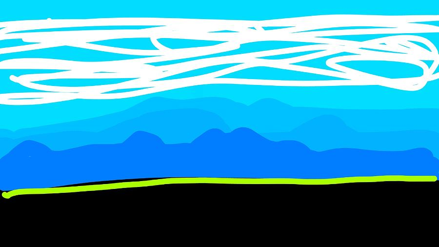 Mountain Layers Digital Art by Madeline Dillner