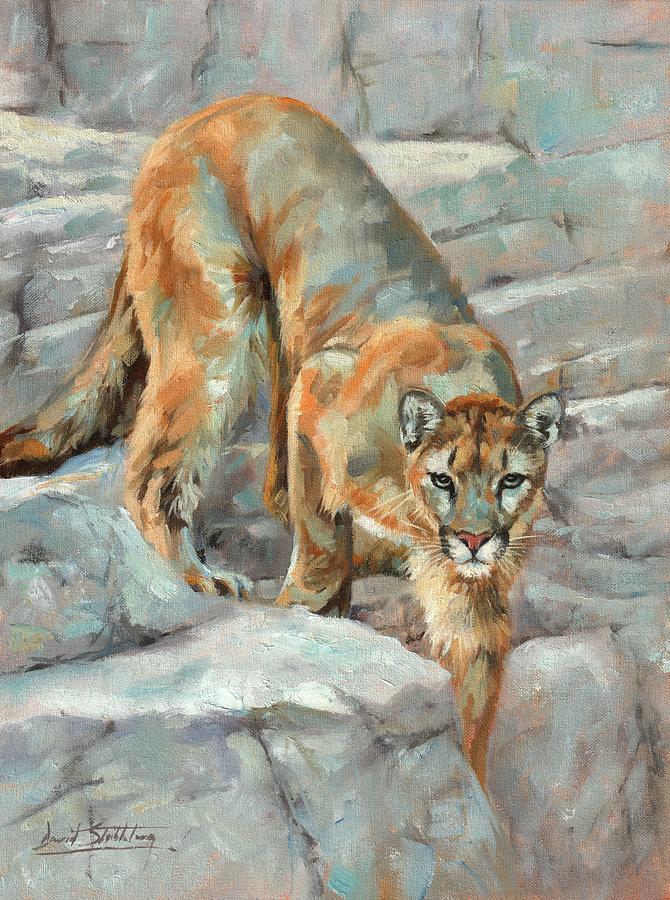 Mountain Lion High Sierra Painting