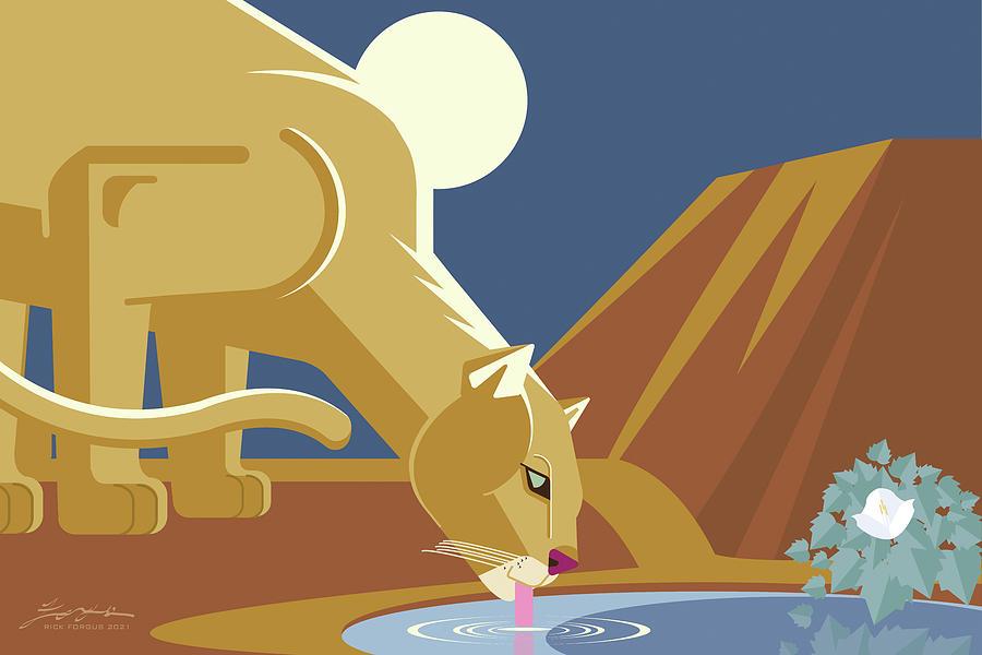 Mountain Lion Digital Art - Mountain Lion by Rick Forgus