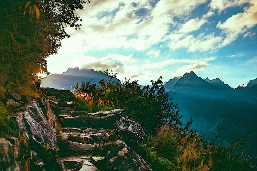Mountain Path Steps Near Gorgeviewhurst L B Digital Art
